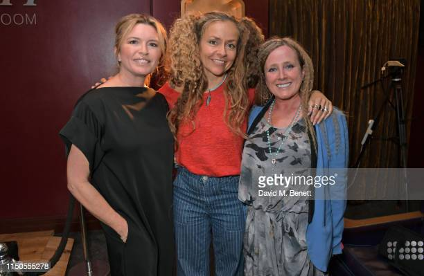 Tina Hobley Chloe Trujillo and Angie Jenkinson attend the 'Ladies Who Rock' Lunch in aid of Teenage Cancer Trust at the Karma Sanctum Soho on June 18...