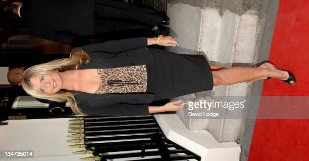 Tina Hobley during Capital FM's Help a London Child Dinner Arrivals at Dover Street in London Great Britain
