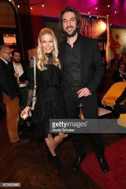 Tina Kaiser and her boyfriend Max Wiedemann during the BUNTE BMW Festival Night 2018 on the occasion of the 68th Berlinale International Film...