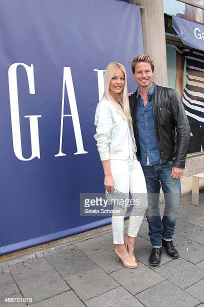 Tina Kaiser and Model Stefan Mirbeth attend the GAP PopUp Shop Opening on May 7 2014 in Munich Germany