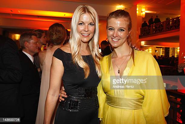 Tina Kaiser and Nina Eichinger attend the Lola German Film Award 2012 Party at FriedrichstadtPalast on April 27 2012 in Berlin Germany