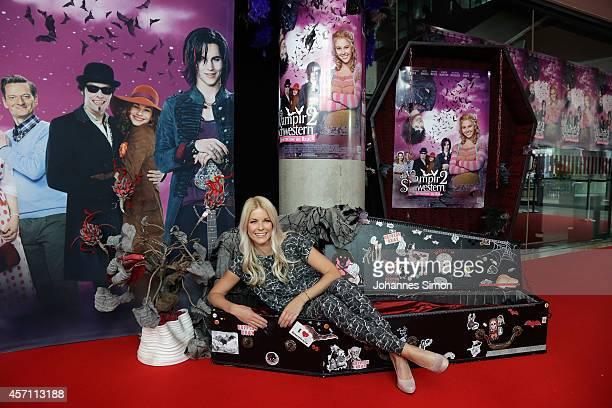 Tina Kaiser attends the 'Die Vampirschwestern 2' Premiere at Mathaeser Filmpalast on October 12 2014 in Munich Germany