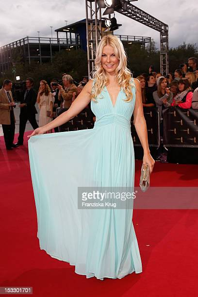 Tina Kaiser attends the German TV Award 2012 at Coloneum on October 2 2012 in Cologne Germany