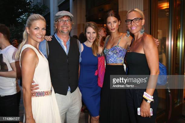 Tina Kaiser Martin Krug Viola Weiss Julia Trainer and Natascha Ochsenknecht attend the Marcel Ostertag fashion show at Charles Hotel on July 24 2013...