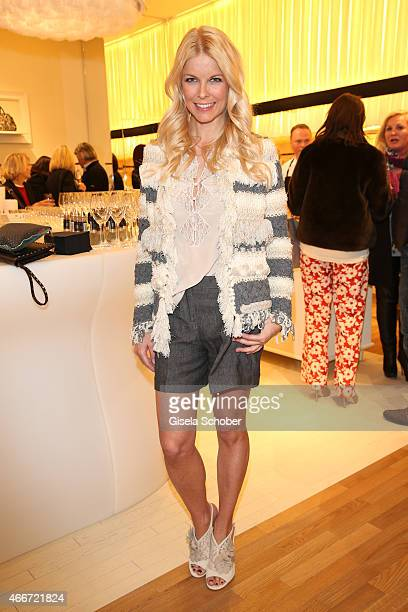 Tina Kaiser poses during the TWINSET Simona Barbieri FlagshipStore Opening Event on March 18 2015 in Munich Germany