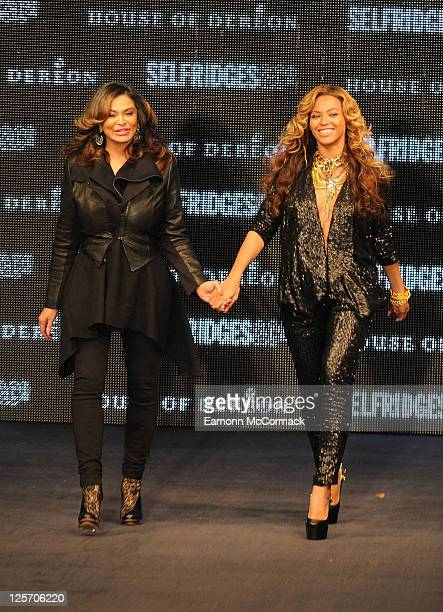 Tina Knowles and Beyonce Knowles at The Launch Of House Of Dereon By Beyonce And Tina Knowles at Selfridges on September 17 2011 in London England