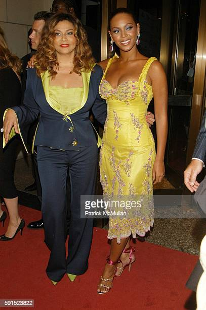 Tina Knowles and Beyonce Knowles attend Beyonce Tina Knowles and House of Dereon present Beyonce Beyond the Red Carpet at Museum of Television and...