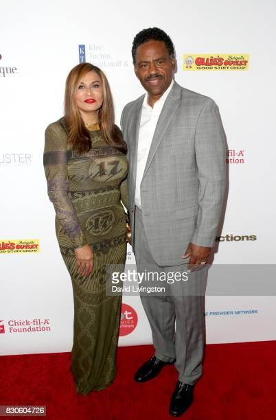 Tina Knowles and Richard Lawson at the 17th Annual Harold Carole Pump Foundation Gala at The Beverly Hilton Hotel on August 11 2017 in Beverly Hills...