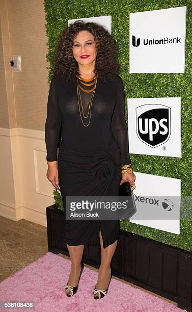 Tina Knowles attends Ladylike Foundation's 8th Annual Women Of Excellence Luncheon Arrivals at The Beverly Hilton Hotel on June 4 2016 in Beverly...