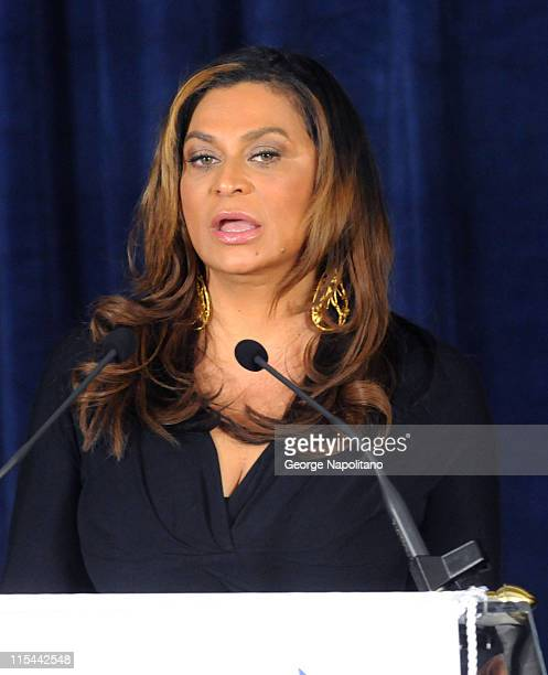 Tina Knowles attends the unveiling of the Beyonce Cosmetology Center on March 5 2010 in New York City