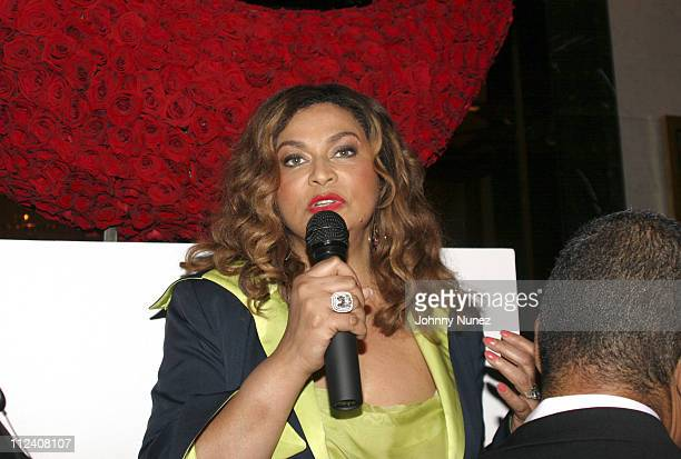 Tina Knowles during Crown Royale Presents 'Beyonce Beyond The Red Carpet' An Auction and Exhibition of Beyonce's Iconic Dresses and Costumes Inside...