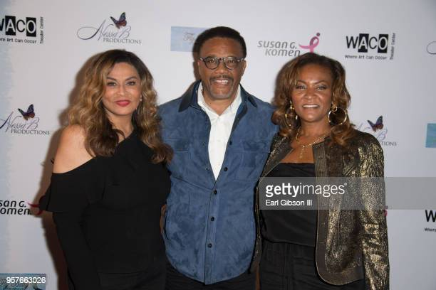 Tina Knowles Greg Mathis and wife Linda Reese attend WACO Theater Center Presents 'Letters From Zora'Opening Night at WACO Theater Center on May 11...