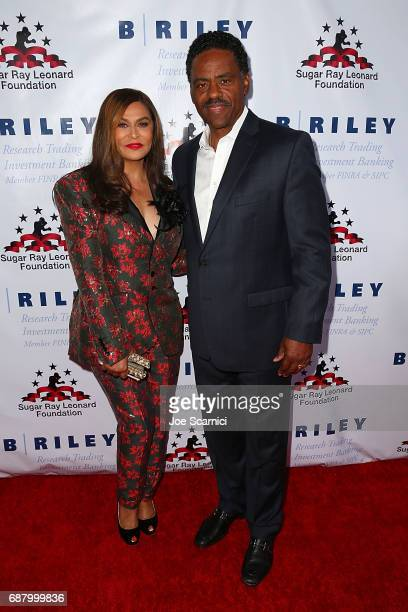 Tina Knowles Lawson and Richard Lawson attend the 8th Annual 'Big Fighters Big Cause' Charity Boxing Night at the Loews Santa Monica Beach Hotel on...