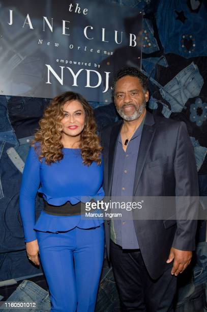 Tina Knowles Lawson and Richard Lawson attend The Jane Club private dinner at Melrose Mansion on July 06 2019 in New Orleans Louisiana
