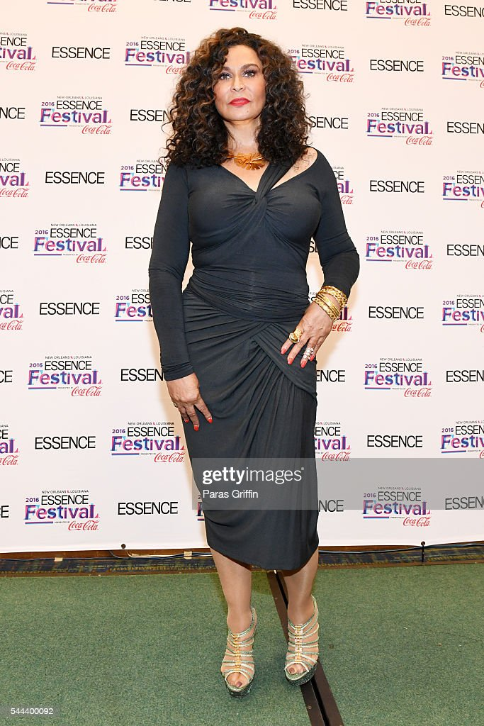 Tina Knowles Lawson poses for a photo backstage at the 2016 ESSENCE Festival Presented By Coca-Cola at Ernest N. Morial Convention Center on July 3, 2016 in New Orleans, Louisiana.