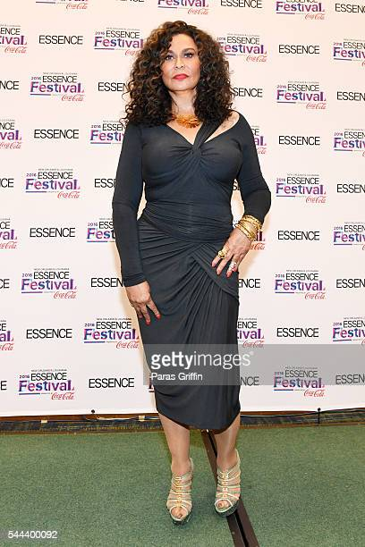 Tina Knowles Lawson poses for a photo backstage at the 2016 ESSENCE Festival Presented By CocaCola at Ernest N Morial Convention Center on July 3...