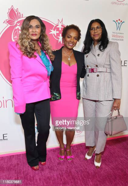 Tina Knowles Lawson Vanessa Bell Calloway and Cookie Johnson attend the 11th Annual A Pink Pump Affair luncheon at The Beverly Hilton Hotel on May 19...
