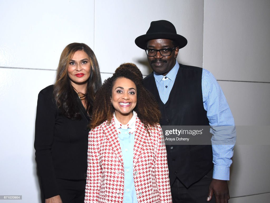 Tina Knowles, Lisa Horowitz and Fab 5 Freddy attend the Film Independent at LACMA Special Screening and Q&A of 'The Life Of Henrietta Lacks' at Bing Theatre At LACMA on April 20, 2017 in Los Angeles, California.