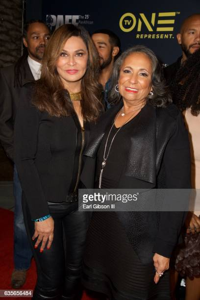 Tina KnowlesLawson and CEO of TV One Cathy Hughes pose for a photo at the Pan African Film Festival screening of Media at Baldwin Hills Crenshaw...