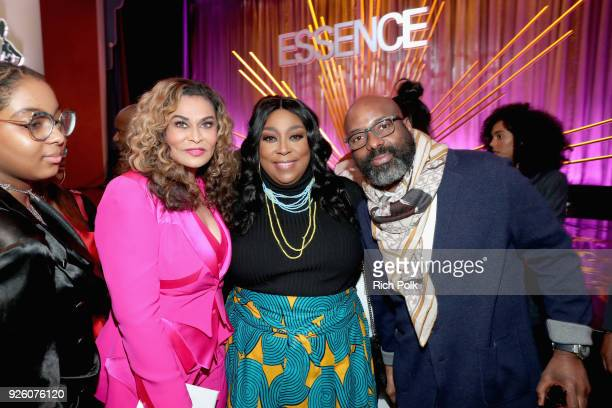 Tina KnowlesLawson Loni Love and Founder and Chairperson Essence Ventures Richelieu Dennis attend the 2018 Essence Black Women In Hollywood Oscars...
