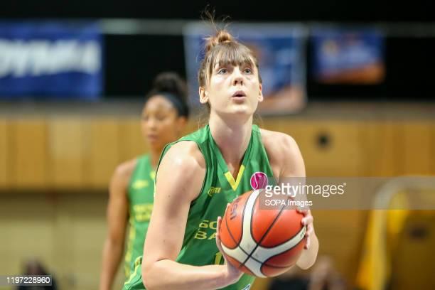 Tina Krajisnik seen in action during EuroLeague Women group B match between Asseco Arka Gdynia and Sopron Basket in Gdynia. .