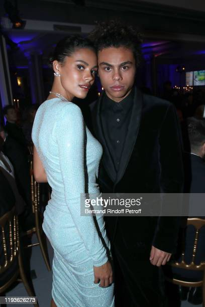 Tina Kunakey and her brother Zachary Kunakey attend the Annual Charity Dinner hosted by the AEM Association Children of the World for Rwanda AIn on...