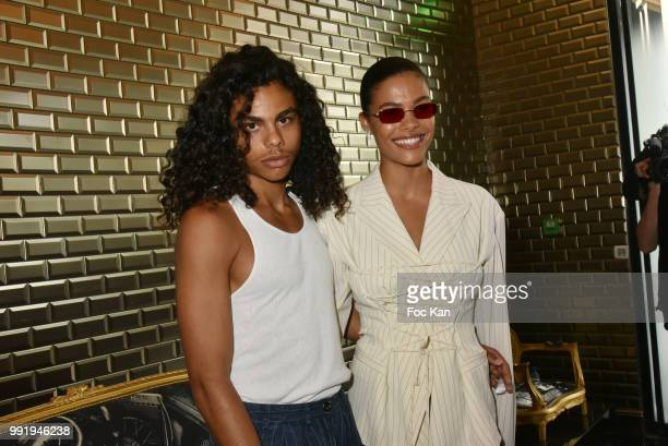 Tina Kunakey and her brother Zakari Kunakey attend the JeanPaul Gaultier Haute Couture Fall Winter 2018/2019 show as part of Paris Fashion Week on...