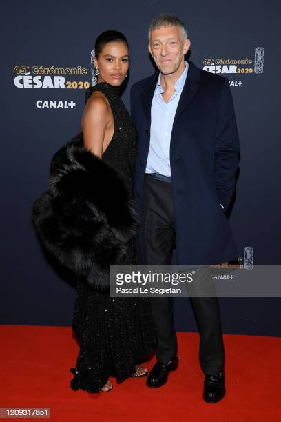 Tina Kunakey and Vincent Cassel arrives at the Cesar Film Awards 2020 Ceremony At Salle Pleyel In Paris on February 28 2020 in Paris France