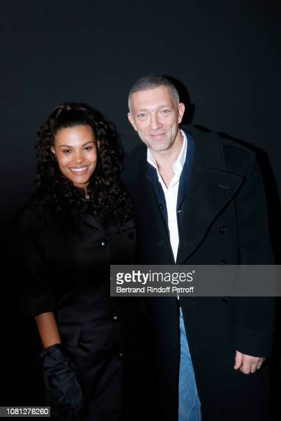 Tina Kunakey and Vincent Cassel attend the Annual Charity Dinner hosted by the AEM Association Children of the World for Rwanda at Pavillon Ledoyen...