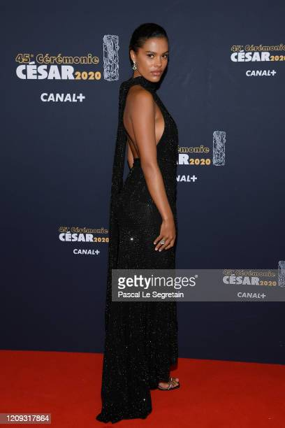 Tina Kunakey arrives at the Cesar Film Awards 2020 Ceremony At Salle Pleyel In Paris on February 28 2020 in Paris France