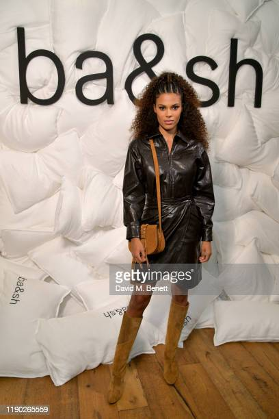 Tina Kunakey attends the bash x Doutzen Kroes launch of The Teddy Bag on November 26 2019 in London England