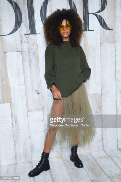 Tina Kunakey attends the Christian Dior Couture S/S19 Cruise Collection on May 25 2018 in Chantilly France