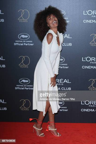 Tina Kunakey attends the Gala 20th Birthday Of L'Oreal In Cannes during the 70th annual Cannes Film Festival at Hotel Martinez on May 24 2017 in...