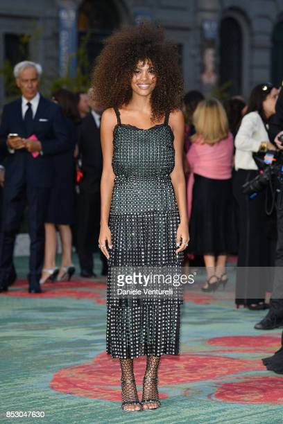Tina Kunakey attends the Green Carpet Fashion Awards Italia 2017 during Milan Fashion Week Spring/Summer 2018 on September 24 2017 in Milan Italy
