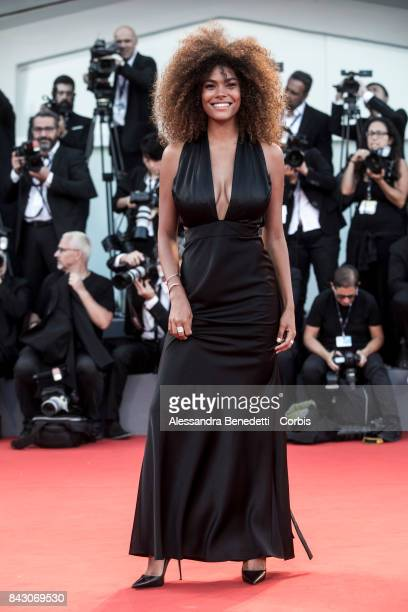 Tina Kunakey attends the 'mother' screening during the 74th Venice Film Festival at Sala Grande on September 5 2017 in Venice Italy