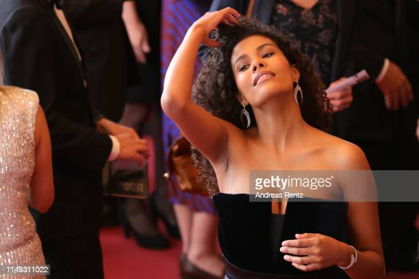 Tina Kunakey attends the screening of Les Miserables during the 72nd annual Cannes Film Festival on May 15 2019 in Cannes France