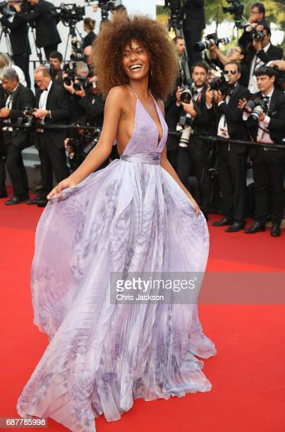 Tina Kunakey attends the 'The Beguiled' screening during the 70th annual Cannes Film Festival at Palais des Festivals on May 24 2017 in Cannes France