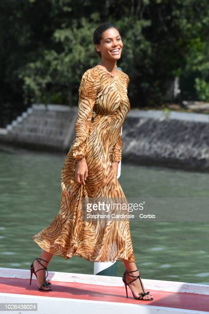 Tina Kunakey Cassel is seen arriving at the 75th Venice Film Festival on September 3 2018 in Venice Italy