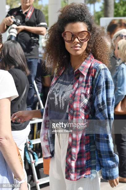 Tina Kunakey is seen during the 71st annual Cannes Film Festival at on May 11 2018 in Cannes France
