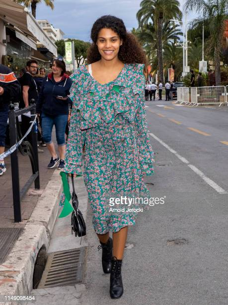 Tina Kunakey is seen during the 72nd annual Cannes Film Festival at on May 14 2019 in Cannes France