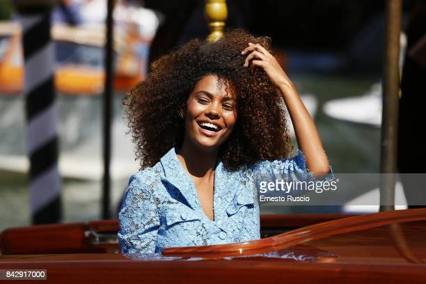 Tina Kunakey is seen during the 74th Venice Film Festival on September 5 2017 in Venice Italy