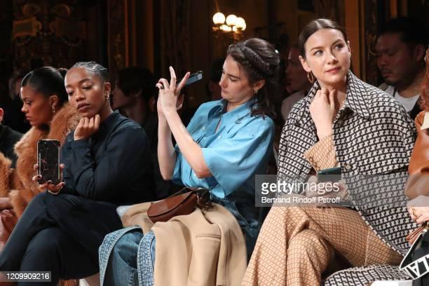Tina Kunakey, Naomi Ackie, Shailene Woodley and Caitriona Balfe attend the Stella McCartney show as part of the Paris Fashion Week Womenswear...