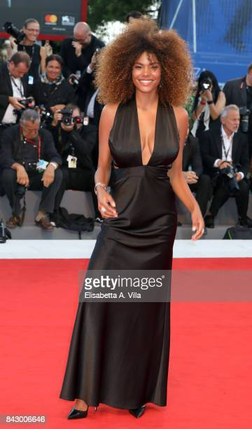 Tina Kunakey walks the red carpet ahead of the 'mother' screening during the 74th Venice Film Festival at Sala Grande on September 5 2017 in Venice...