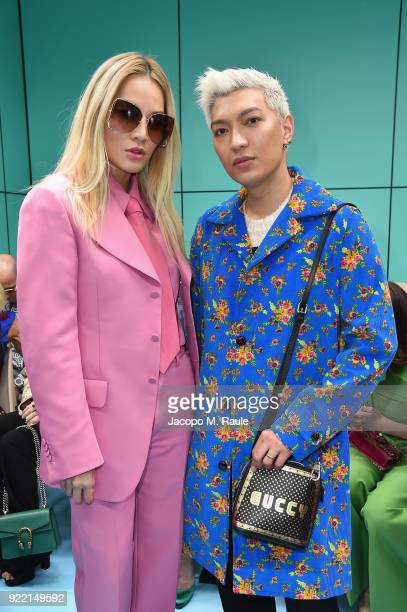 Tina Leung and Brian Boy attend the Gucci show during Milan Fashion Week Fall/Winter 2018/19 on February 21 2018 in Milan Italy