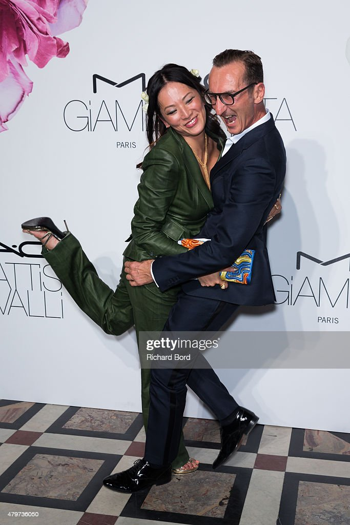 Tina Leung and Bruno Frisoni attend the M.A.C Cosmetics & Giambattista Valli Floral Obsession Ball at Opera Garnier on July 6, 2015 in Paris, France.