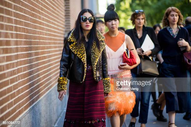Tina Leung and Susie Lau is seen outside Fendi during Milan Fashion Week Spring/Summer 2018 on September 21 2017 in Milan Italy