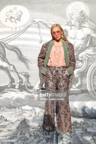 Tina Leung arrives at the Gucci show during Milan Fashion Week Autumn/Winter 2019/20 on February 20 2019 in Milan Italy