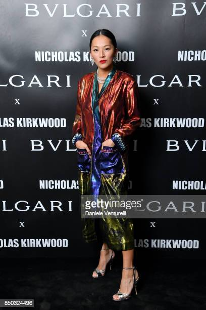 Tina Leung attends a party celebrating 'Serpenti Forever' By Nicholas Kirkwood for Bvlgari on September 20 2017 in Milan Italy