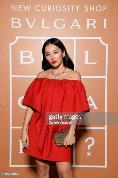 Tina Leung attends New Curiosity Shop on January 31 2018 in Rome Italy