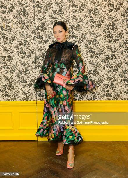 Tina Leung attends Susan Chokachi and Linda Fargo host a private dinner to introduce Gucci Decor at BG Restaurant Bergdorf Goodman on September 6...
